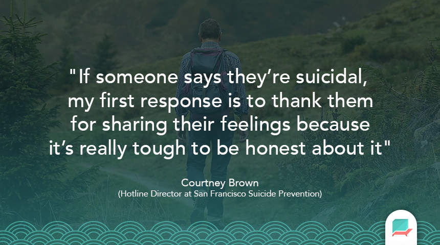 Spotting Suicidel Behavior Quote