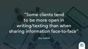 Joy Solano Quote Clients