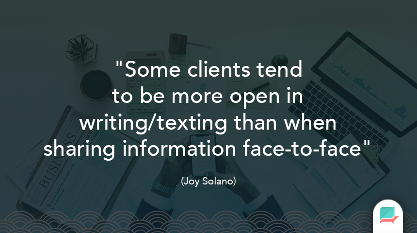 Joy Solano Quote Clients