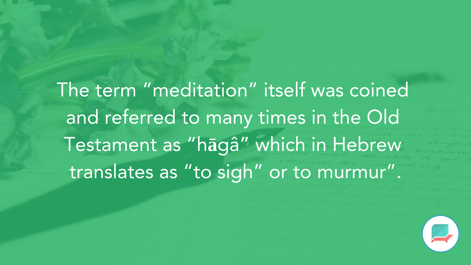 How meditation works